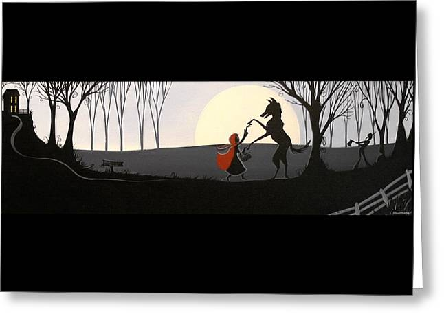 Dancing Girl Greeting Cards - Dancing With The Wolf Greeting Card by Debbie Criswell