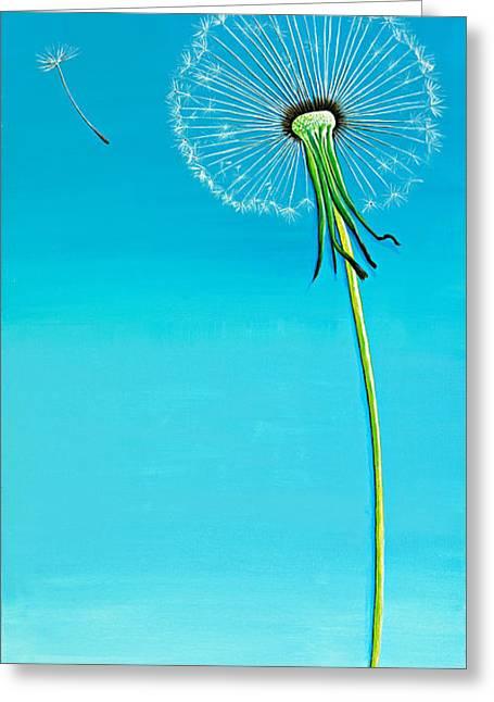 David Junod Greeting Cards - Dandelion Greeting Card by David Junod