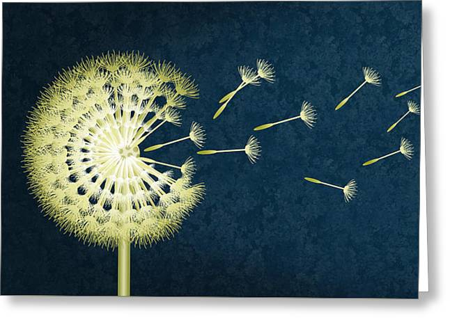 Dandelion Modern Greeting Card by Monika Juengling