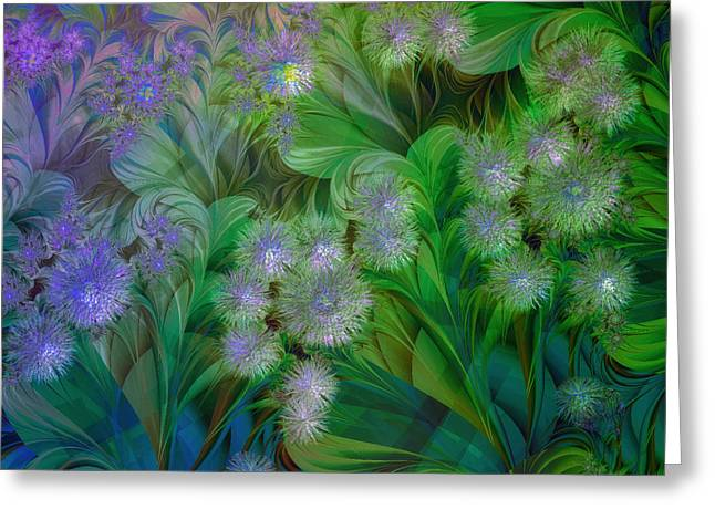 Colorful Dandelions Greeting Cards - Dandelion Nap Greeting Card by Mindy Sommers