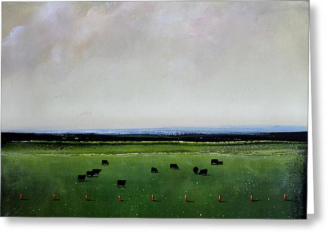 Dandelion Pastures Greeting Card by Toni Grote