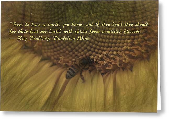 Healthy Greeting Cards - Dandelion Wine Greeting Card by Janice Rae Pariza