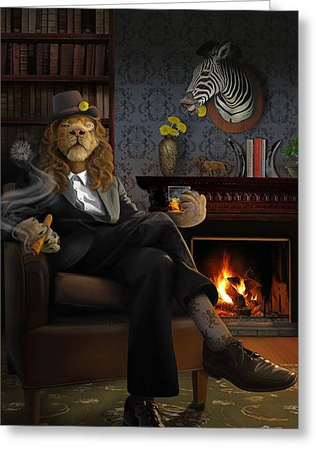 Clever Digital Greeting Cards - Dandylion Greeting Card by Jessica LeClerc