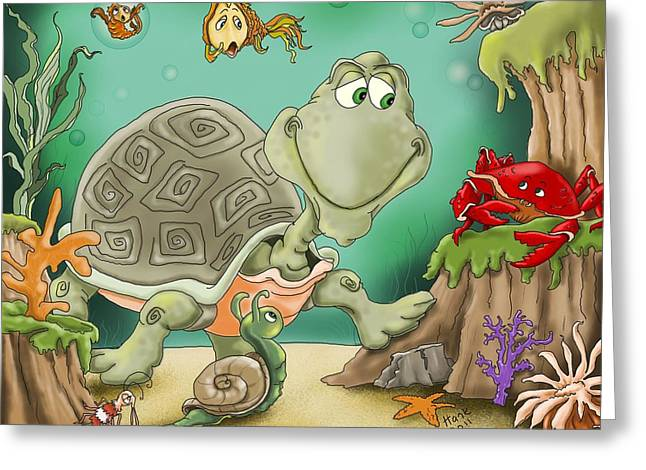 Sea Life Digital Greeting Cards - Danger Greeting Card by Hank Nunes