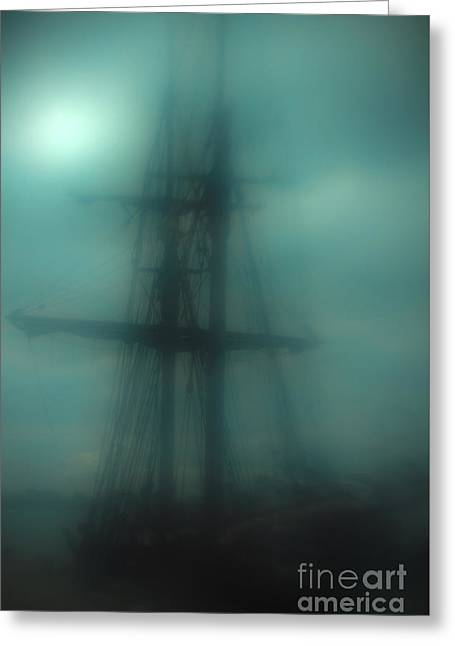 Tall Ships Greeting Cards - Dangerous Waters Greeting Card by Andrew Paranavitana