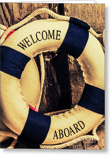 Dangers From Nautical Old Greeting Card by Jorgo Photography - Wall Art Gallery