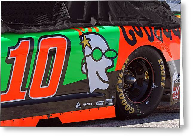 Danica Patrick Go Daddy Race Car Greeting Card by Juergen Roth