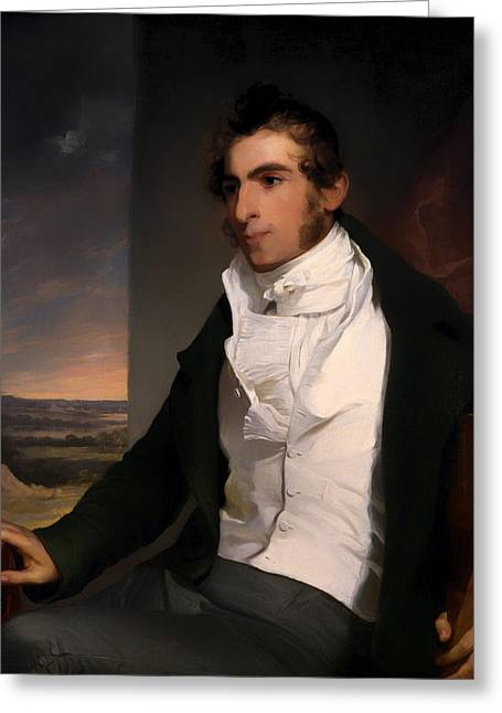 Sideburns Paintings Greeting Cards - Daniel La Motte Greeting Card by Thomas Sully