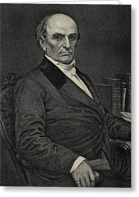 Orator Greeting Cards - Daniel Webster, 1782-1852. Statesman Greeting Card by Ken Welsh