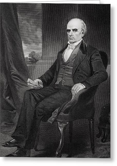 Orator Greeting Cards - Daniel Webster 1792 To 1852. American Greeting Card by Ken Welsh