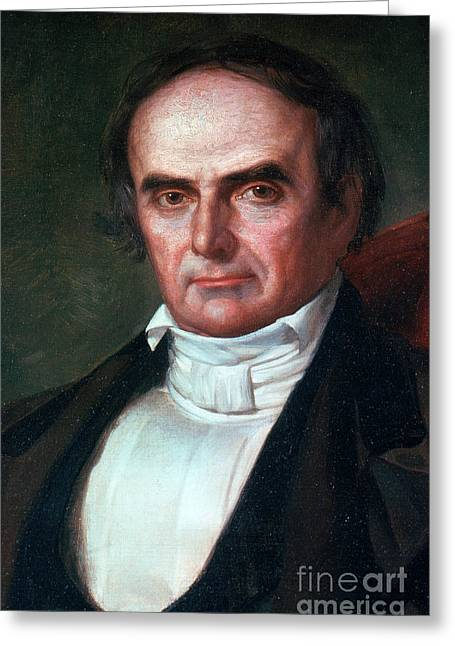 Important Greeting Cards - Daniel Webster Greeting Card by Photo Researchers