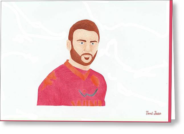 Player Drawings Greeting Cards - Daniele De Rossi Greeting Card by Toni Jaso