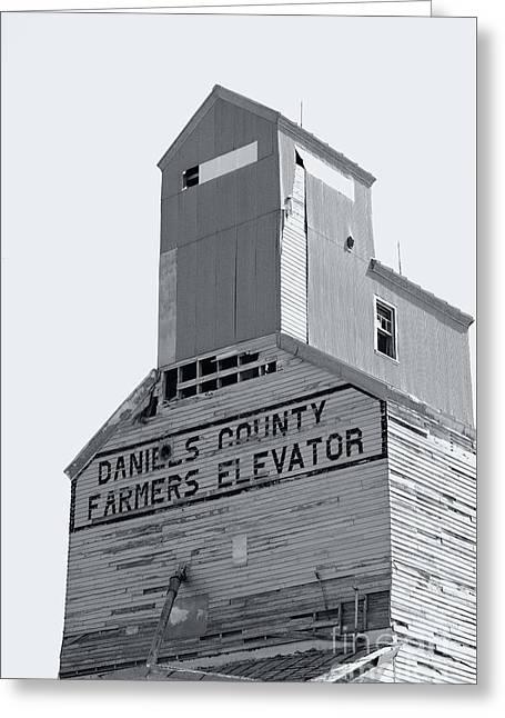 Fame Greeting Cards - Daniels County Farmers Elevator 5602 Greeting Card by Ken DePue