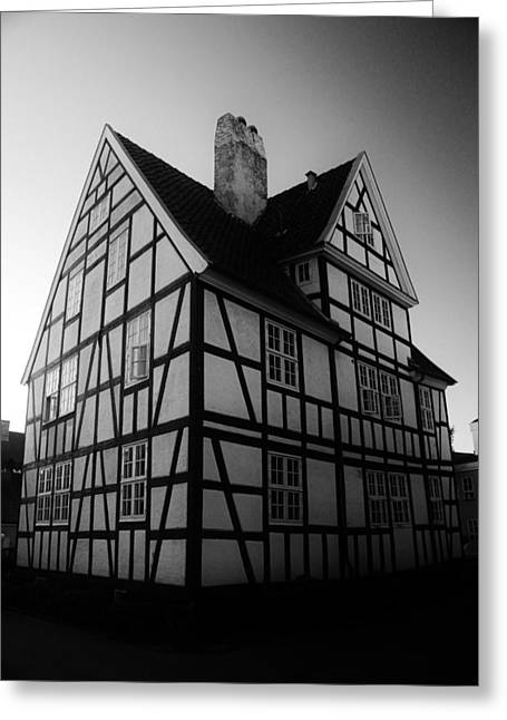 Wooden Building Greeting Cards - Danish Half-Timbered House Greeting Card by David Broome
