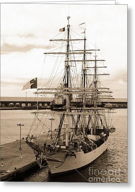 Danish Training Ship Greeting Card by Gaspar Avila
