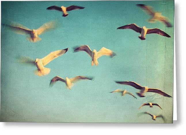 Best Sellers Greeting Cards - Dans Avec Les Oiseaux Greeting Card by Taylan Soyturk
