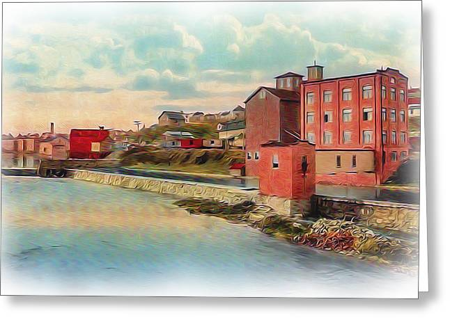 Reprint Greeting Cards - Danville Flour Mill Greeting Card by Lisa and Norman  Hall