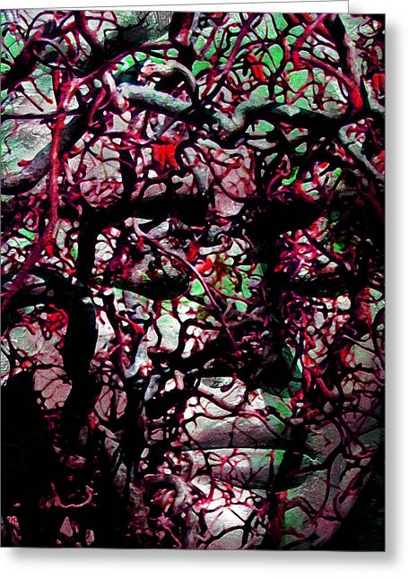 Transformations Mixed Media Greeting Cards - Daphne Agony Greeting Card by Angelina Vick
