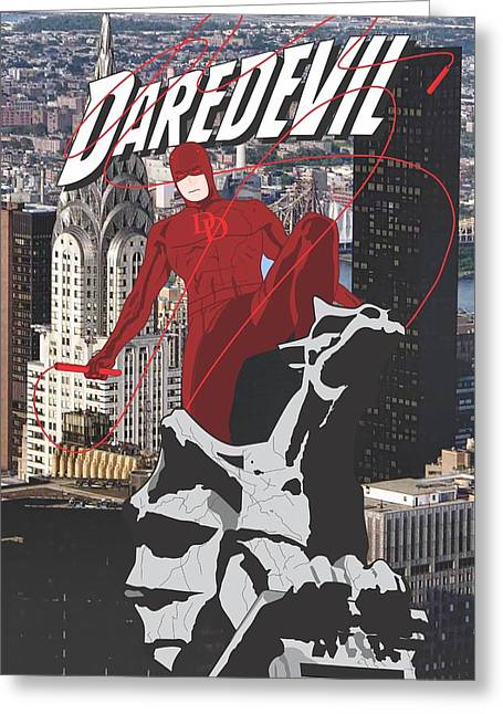 The Kingpins Greeting Cards - Daredevil Greeting Card by Troy Arthur Graphics