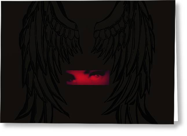 Eyelash Greeting Cards - Dark Angel Greeting Card by Frances Lewis