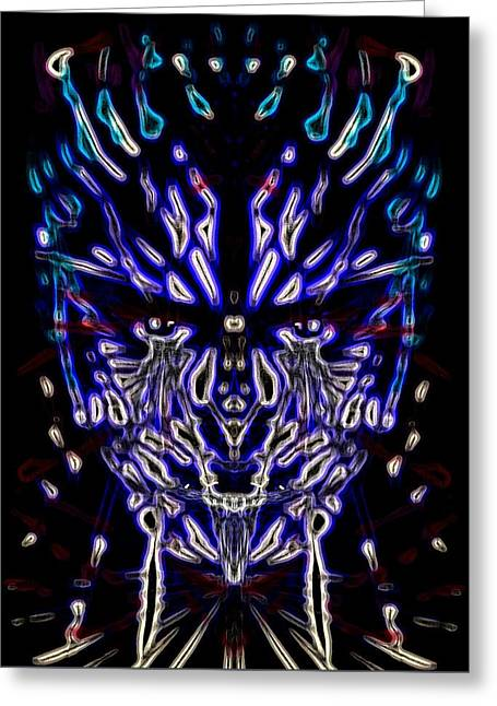 Slaves Greeting Cards - Dark Blue Entangled Greeting Card by Michael African Visions