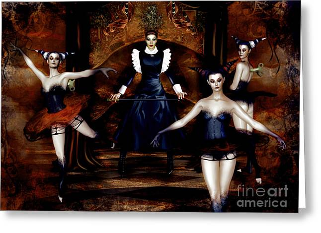 Aesthetic Greeting Cards - Dark Cabaret Greeting Card by Shanina Conway