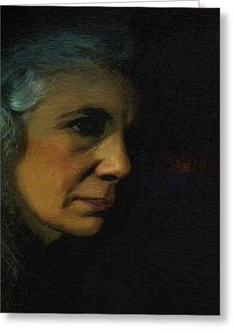 Self-portrait Greeting Cards - Dark Days Greeting Card by RC seWinter