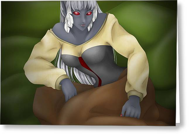 Sexy Greeting Cards - Dark elf Greeting Card by Sandra Hoefer