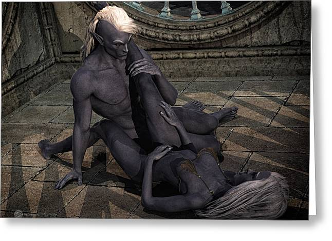 Creative People Greeting Cards - Dark Elves Greeting Card by Todd and candice Dailey