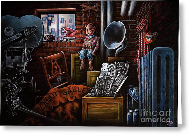 Camera Paintings Greeting Cards - Dark Exile Greeting Card by Michael Frank