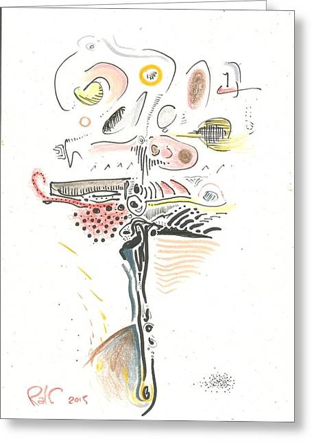 Valuable Drawings Greeting Cards - Dark Lite Greeting Card by Ralf Schulze