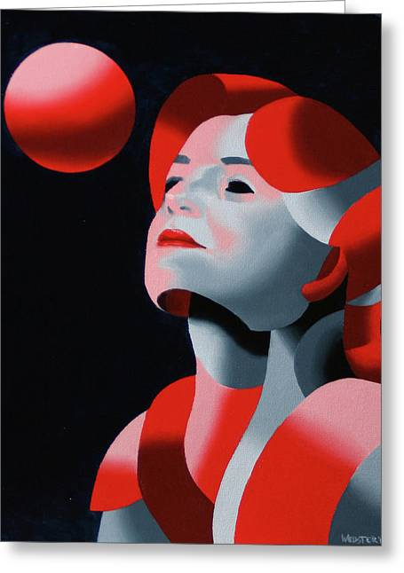 Spheres Paintings Greeting Cards - Dark Matter 10 Greeting Card by Mark Webster