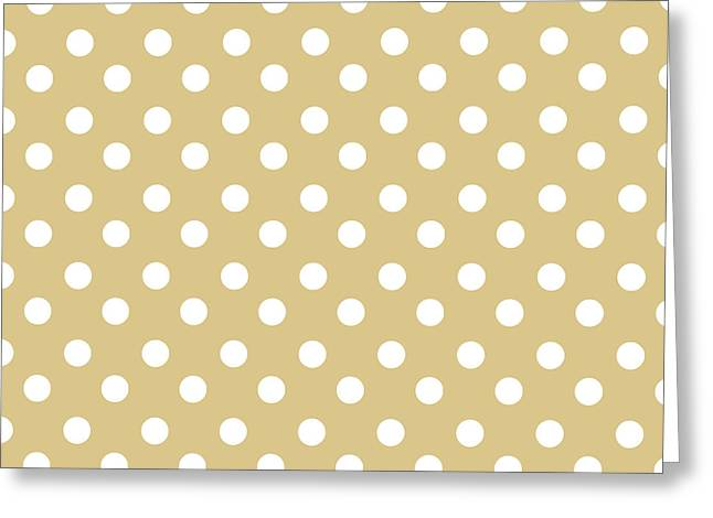 Awesome Tapestries - Textiles Greeting Cards - Dark Olive Polka Dots Greeting Card by Bimbys Collections