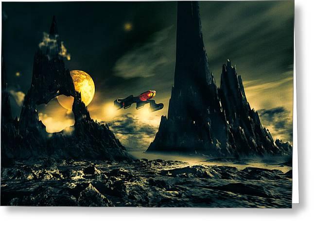 Dark Planet Greeting Card by Bob Orsillo