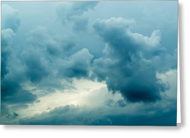 Overcast Day Greeting Cards - Dark Rain Clouds   Greeting Card by John Williams