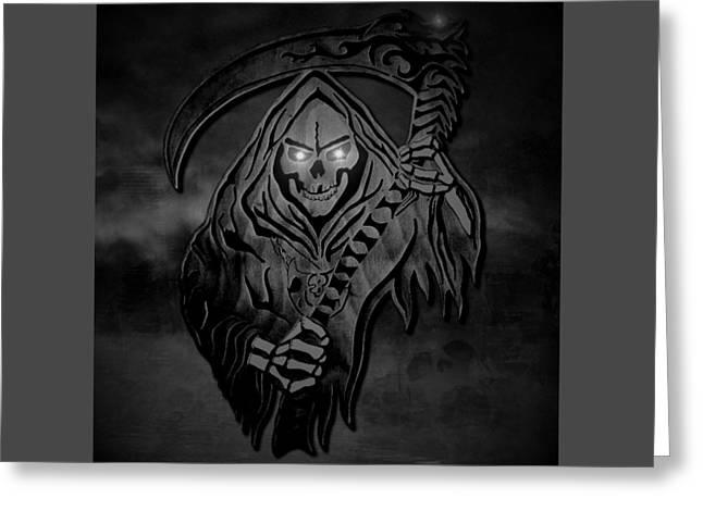 Dark Reaper Greeting Card by Michael Bergman