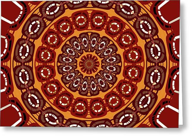 Dark Red Mandala Greeting Card by Gaspar Avila