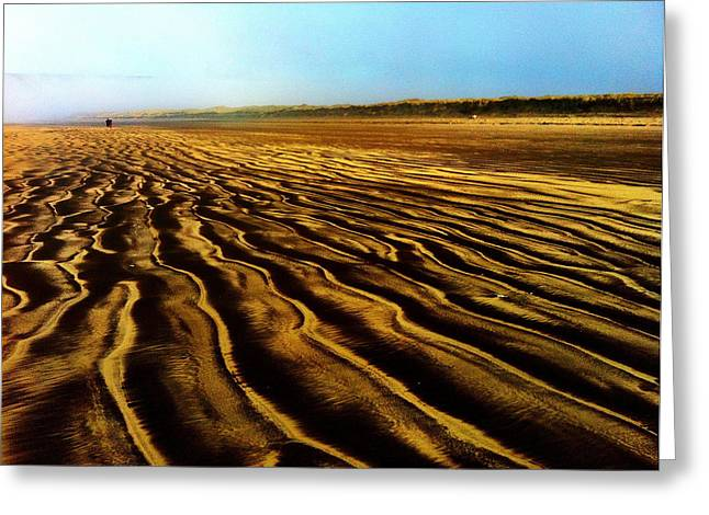 Croyde Greeting Cards - Dark Sands Greeting Card by Sean Maguire