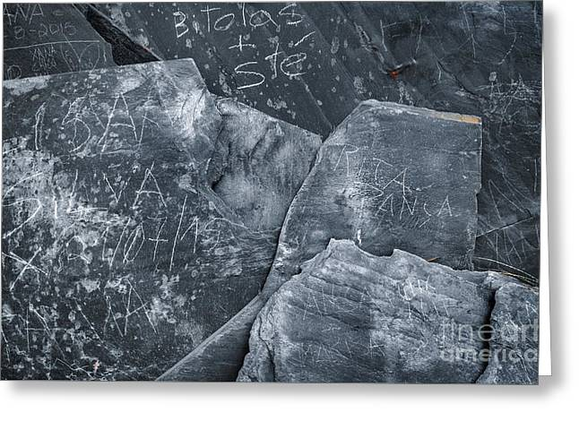 Stonewall Photographs Greeting Cards - Dark Schist Blades Greeting Card by Carlos Caetano