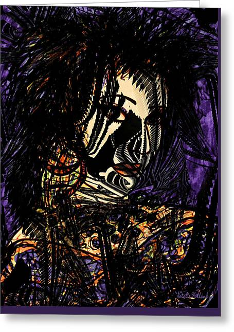 Designers Choice Mixed Media Greeting Cards - Dark Side Greeting Card by Natalie Holland