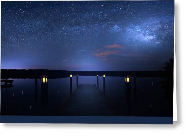 Dark Sky Island Greeting Card by Mark Andrew Thomas