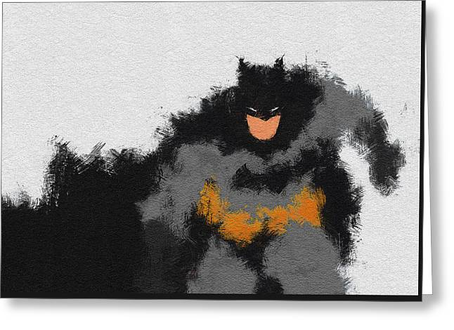 Character Portraits Paintings Greeting Cards - Dark Wayne Greeting Card by Miranda Sether