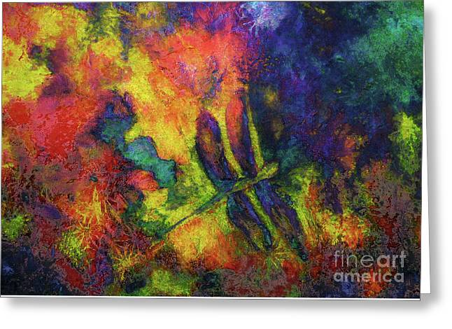 Darling Darker Dragonfly Greeting Card by Claire Bull