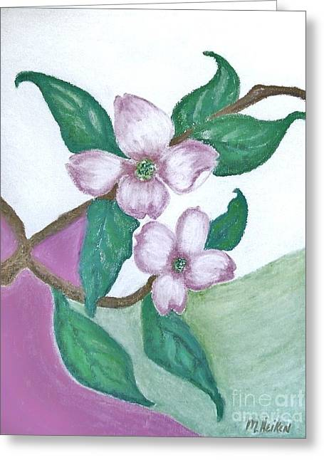 Framed Prints Pastels Greeting Cards - Darling Dogwood Greeting Card by Marsha Heiken
