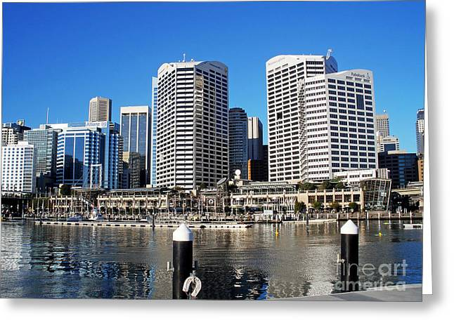 Darling Harbour Greeting Cards - Darling Harbour Sydney Australia Greeting Card by Kaye Menner