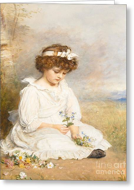 """forget Me Not"" Greeting Cards - Darling Greeting Card by Sir John Everett Millais"