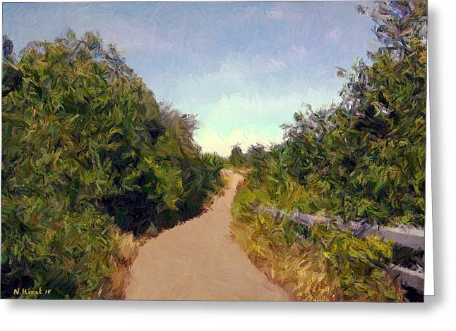 Impressionist Greeting Cards - Darnley Trail - Over the Bridge Greeting Card by Nigel Hirst