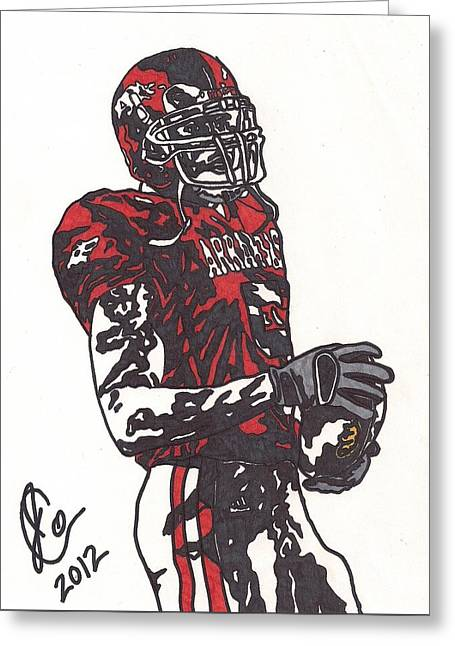 Razorbacks Drawings Greeting Cards - Darren McFadden 3 Greeting Card by Jeremiah Colley