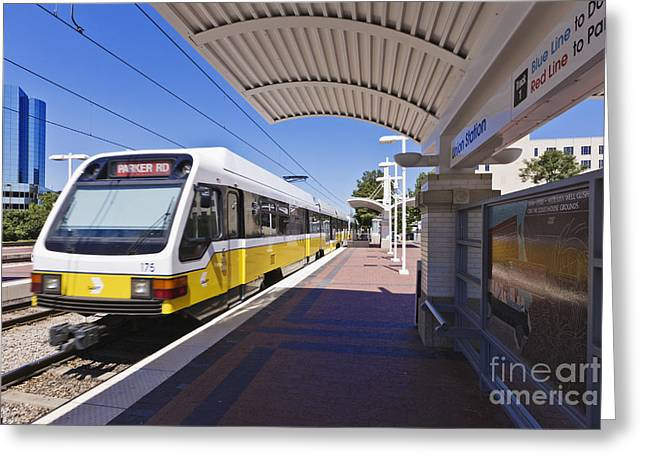 Dart Stations Greeting Cards - DART Rail Train Station Greeting Card by Jeremy Woodhouse