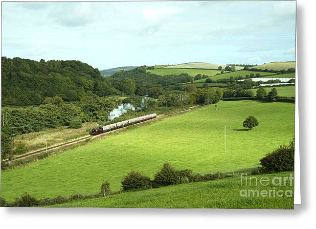 Pannier Greeting Cards - Dart Valley Steam  Greeting Card by Rob Hawkins